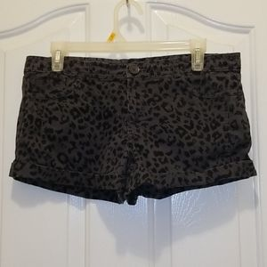 Miley Cyrus max azria cheetah print shorts